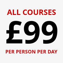 All Training Courses £99 Per Person Per Day